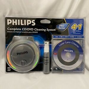 Philips All You Need To Clean CD/DVD 4 In 1 Complete Cleaning System New Sealed