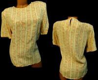 Norton mcnaughton yellow orange women's geometric short sleeve dressy top 14