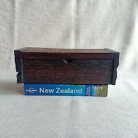 Rustic Wooden Box Vintage 10x23x7 CM Trinket Storage Jewelry Coin Case Holder