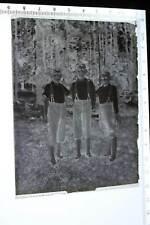 tolles altes Glasnegativ - drei Jungs mit gleicher Kleidung     - 1920-30 ?