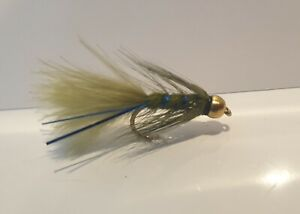 Blue Flash Damsel Gold Head Short Shank x6 Trout Flies Sizes Dragonflies