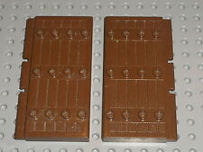 2 pieces Porte brune LEGO OldBrown door 30223 / Set 3053 6093 6083 7417