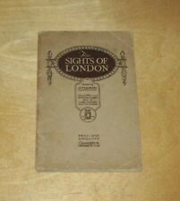 THE SIGHTS OF LONDON GUIDE BOOK by AITCHISON OPTICIANS EYES UNDERGROUND MAP