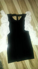 FindersKeeprs Ladies Dress - Size L12- Black - White sleeves