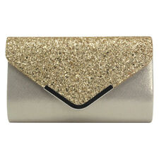 Glitter Shiny Women Formal Evening Clutch Handbag Wedding Purse Party Prom Bag