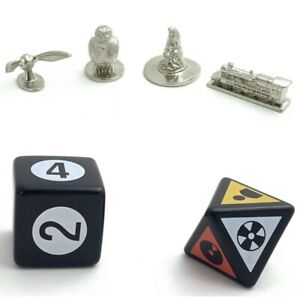 Harry Potter Scene It 1st Ed. 2005 Replacement Parts Pieces 4 Token Pawns 2 Dice