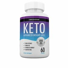 Flawless Keto Diet Advanced Weight Loss Ketosis Supplement 800mg Burn Fat 60Caps