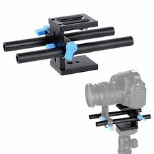 15mm Rail Rod Support System Baseplate Mount For Follow Focus Rig Canon Nikon