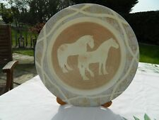 BARBARA PAYNE HAND MADE PLATE SHOWING 2 HORSES