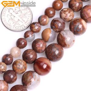 """Brown Venus Jasper Beads Natural Gemstone Round Loose Beads Jewelry Making 15"""""""
