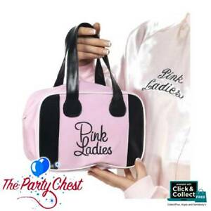 PINK LADIES BOWLING BAG 50s Grease Pink Lady Character Fancy Dress Accessory 043
