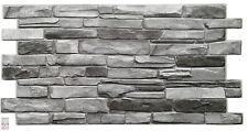 3D PVC FLIESEN  Wandpaneele Wandverkleidung PVC-Verkleidung Grey Stone Wand