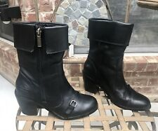 HARLEY DAVIDSON Black Leather Boots  sz 5 M  GREAT CONDITION!!!