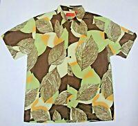 CHISPA Men's Short Sleeve Floral Hawaiian Tropical Champ Shirt - Size L Large