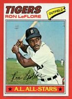 1977 Topps #240 Ron LeFlore Pack Fresh MINT+ ALL-STAR Detroit Tigers FREE SHIP