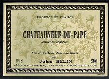 Etiquette de Vin - - Chateauneuf Du Pape - J.Belin -  Réf.n°234