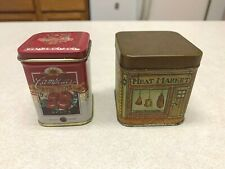 Vintage Mini Tins Campbells Xtra Fine 5c Soups Candle + Fish Coffee Meat Market