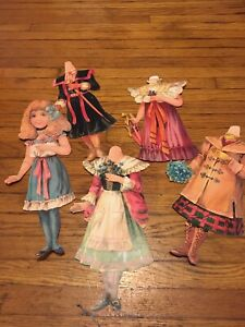 Paper Dolls Raphael Tuck No 42 Little Maid Series Of New Dressing Dolls Serene