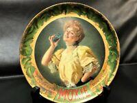"""MOXIE Vintage Advertising Tip Tray 6"""" Circa 1920 Original Great Condition"""