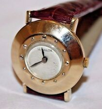 Vintage 14K Yellow Gold LeCoultre Manual Wind 17 Jewels Men's Wristwatch