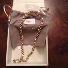 MICHAEL KORS MKJ4962 Gold Park Ave Mesh Crystals necklace NWT Ret$225