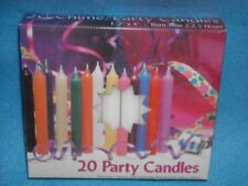 "Angel Chime Party Candles, 1/2"" Diameter x 4"" Tall, 20 in New Box, White"