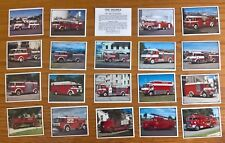 Grain Products trade cards: Fire Engines complete full set loose excellent
