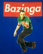 Bazinga!! Sheldon Cooper The Big Bang Theory T-Shirt Blue 2XL
