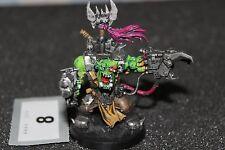 Games Workshop Warhammer 40k Orks Warboss War Boss Painted Figure Black Reach C3