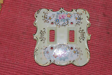 Vintage Electrical Light Switch Wall Cover-Victorian Style W/Gold & Flowers-LQQK