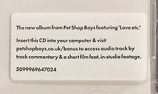 New CD - Pet Shop Boys - Yes (2009) - 11 Songs Enhanced Johnny Marr Astralwerks