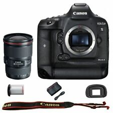 Canon EOS 1DX mark II DSLR Camera Body with EF 16-35mm f/4L IS USM Lens