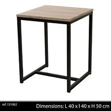 TABLE BASSE D APPOINT STYLE INDUSTRIEL BOIS ET METAL DESSERTE LOFT CHEVET 629