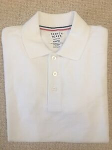 👕 Boys French Toast Short Sleeve White Cotton Color Dress Shirt L(10/12) 👕