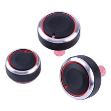 Heater A/C Control Knob Set of 3 Fit Nissan Cube Z12 Versa Note E12 Micra K13