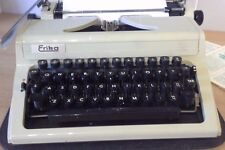 Vintage Erika White Typewriter Model 105