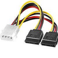 z SATA y-Kabel Power Strom Splitter Verteiler Adapter ATA Molex 4pol/15pin DVD ❈
