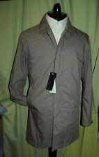 NWT Z ZEGNA mens khaki trench coat  S - Hydro Cotton Laminated Water Resistant