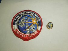 Lot of 2 NASA Space Shuttle Mission STS-41 C Challenger Iron On Patch and Pin