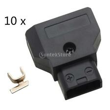10 Pack Male D-Tap Connector for DSLR Rig Power Cable V-mount Anton Battery