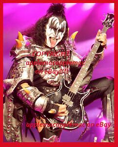 Kiss GENE SIMMONS 8x10 ORIGINAL IN CONCERT PHOTO (D) - UNPUBLISHED