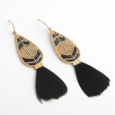 Stella & Dot Wisten Feather Earrings New