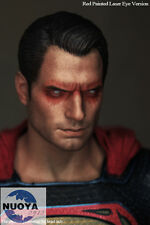 """1:6 Scale Superman Henry Cavill Head Sculpt Red Eye For 12"""" Action Figure Body"""