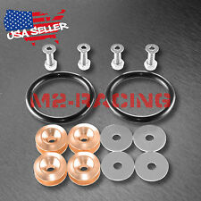 Champagne Gold JDM Quick Release Fasteners For Car Bumper Trunk Fender Hatch Kit
