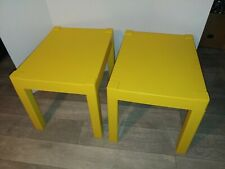 Kids Plastic Table Set, Yellow stackable.
