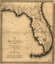 Map Of Florida Cities And Towns.Florida 1800 1899 Date Range Antique North America Wall Maps Ebay