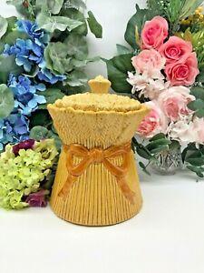 "1950s Golden Yellow ""Shock O Wheat"" Cookie Jar  PoppyTrail California Pottery"