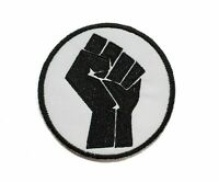 Black Power BLM Fist Embroidered Iron On Patch S7732/LO