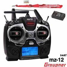 Graupner S1002.13 MZ-12 HoTT 6 Ch 2.4Ghz Transmitter Radio w/ GR-12L Receiver