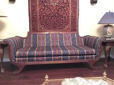 Original Duncan Phyfe Sofa Reupholstered In 1986 From Its Original Fabric